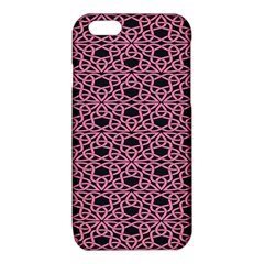 Triangle Knot Pink And Black Fabric iPhone 6/6S TPU Case