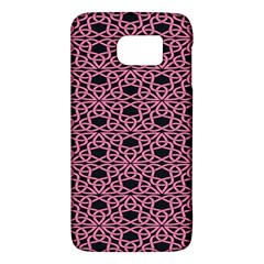 Triangle Knot Pink And Black Fabric Galaxy S6