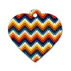 The Amazing Pattern Library Dog Tag Heart (One Side)