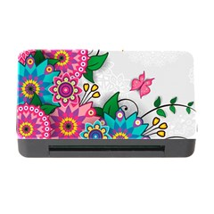Flowers Pattern Vector Art Memory Card Reader with CF