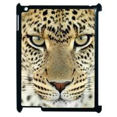 Leopard Face Apple iPad 2 Case (Black)
