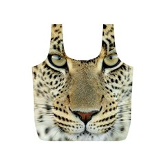 Leopard Face Full Print Recycle Bags (S)