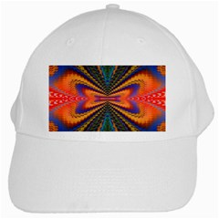 Casanova Abstract Art Colors Cool Druffix Flower Freaky Trippy White Cap