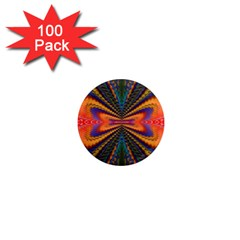Casanova Abstract Art Colors Cool Druffix Flower Freaky Trippy 1  Mini Magnets (100 pack)