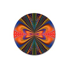 Casanova Abstract Art Colors Cool Druffix Flower Freaky Trippy Magnet 3  (Round)