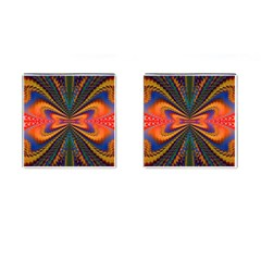 Casanova Abstract Art Colors Cool Druffix Flower Freaky Trippy Cufflinks (Square)