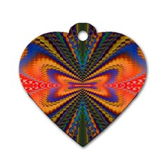 Casanova Abstract Art Colors Cool Druffix Flower Freaky Trippy Dog Tag Heart (One Side)
