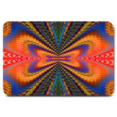 Casanova Abstract Art Colors Cool Druffix Flower Freaky Trippy Large Doormat