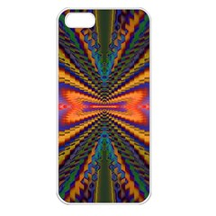 Casanova Abstract Art Colors Cool Druffix Flower Freaky Trippy Apple iPhone 5 Seamless Case (White)