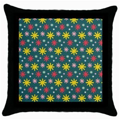The Gift Wrap Patterns Throw Pillow Case (Black)