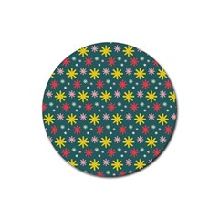 The Gift Wrap Patterns Rubber Coaster (Round)