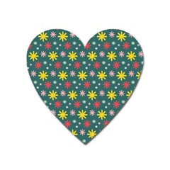 The Gift Wrap Patterns Heart Magnet