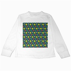 The Gift Wrap Patterns Kids Long Sleeve T-Shirts