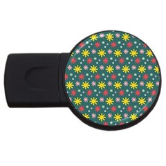 The Gift Wrap Patterns USB Flash Drive Round (4 GB)
