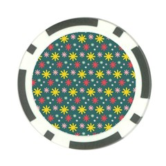 The Gift Wrap Patterns Poker Chip Card Guard