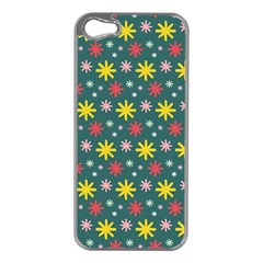 The Gift Wrap Patterns Apple iPhone 5 Case (Silver)