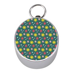 The Gift Wrap Patterns Mini Silver Compasses