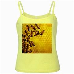 Honey Honeycomb Yellow Spaghetti Tank