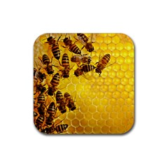 Honey Honeycomb Rubber Coaster (Square)