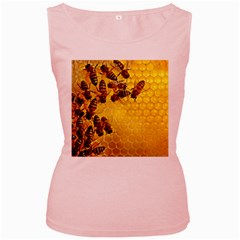 Honey Honeycomb Women s Pink Tank Top