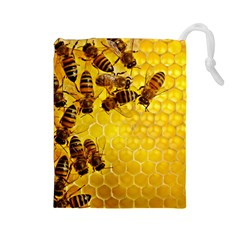 Honey Honeycomb Drawstring Pouches (Large)