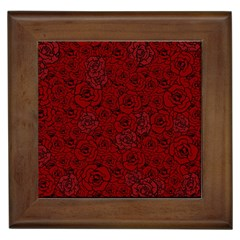Red Roses Field Framed Tiles