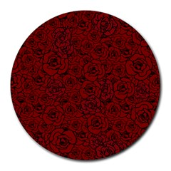 Red Roses Field Round Mousepads