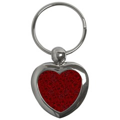 Red Roses Field Key Chains (heart)