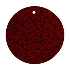 Red Roses Field Round Ornament (two Sides)