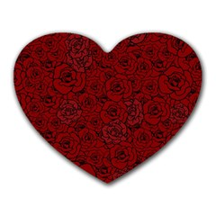 Red Roses Field Heart Mousepads
