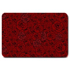Red Roses Field Large Doormat