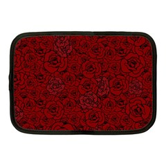 Red Roses Field Netbook Case (medium)