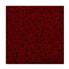 Red Roses Field Face Towel