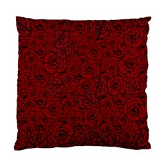 Red Roses Field Standard Cushion Case (two Sides)