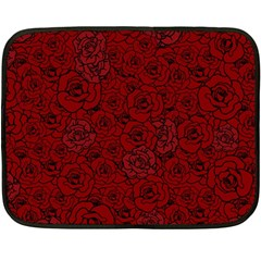 Red Roses Field Double Sided Fleece Blanket (mini)