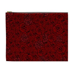 Red Roses Field Cosmetic Bag (xl)