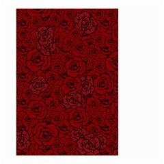 Red Roses Field Small Garden Flag (two Sides)