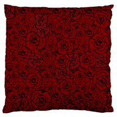 Red Roses Field Large Cushion Case (one Side)