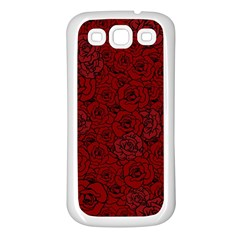 Red Roses Field Samsung Galaxy S3 Back Case (white)