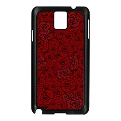 Red Roses Field Samsung Galaxy Note 3 N9005 Case (black)