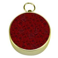 Red Roses Field Gold Compasses