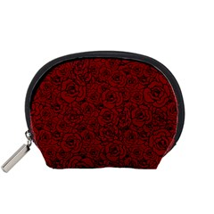 Red Roses Field Accessory Pouches (small)
