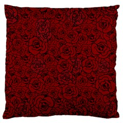 Red Roses Field Large Flano Cushion Case (two Sides)