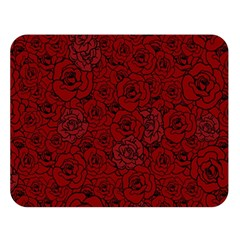 Red Roses Field Double Sided Flano Blanket (large)