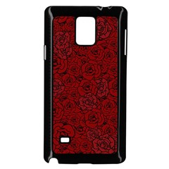 Red Roses Field Samsung Galaxy Note 4 Case (black)