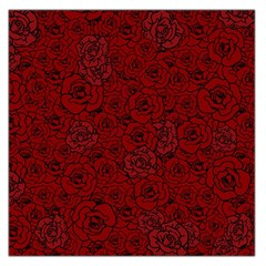 Red Roses Field Large Satin Scarf (square)
