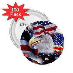 United States Of America Images Independence Day 2.25  Buttons (100 pack)