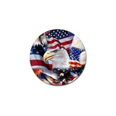 United States Of America Images Independence Day Golf Ball Marker