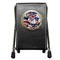 United States Of America Images Independence Day Pen Holder Desk Clocks