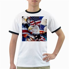 United States Of America Images Independence Day Ringer T-Shirts